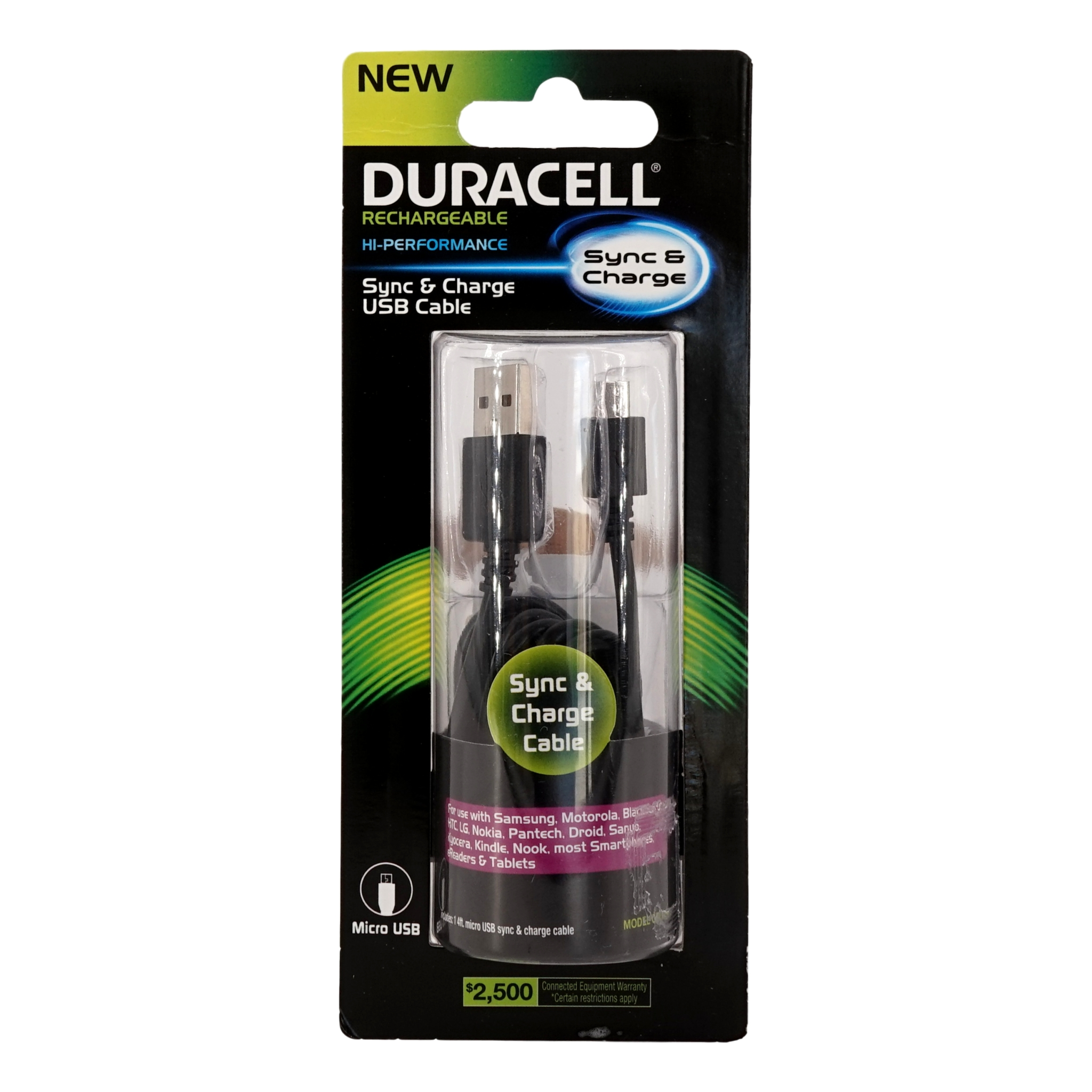 duracell sync and charge usb cable review