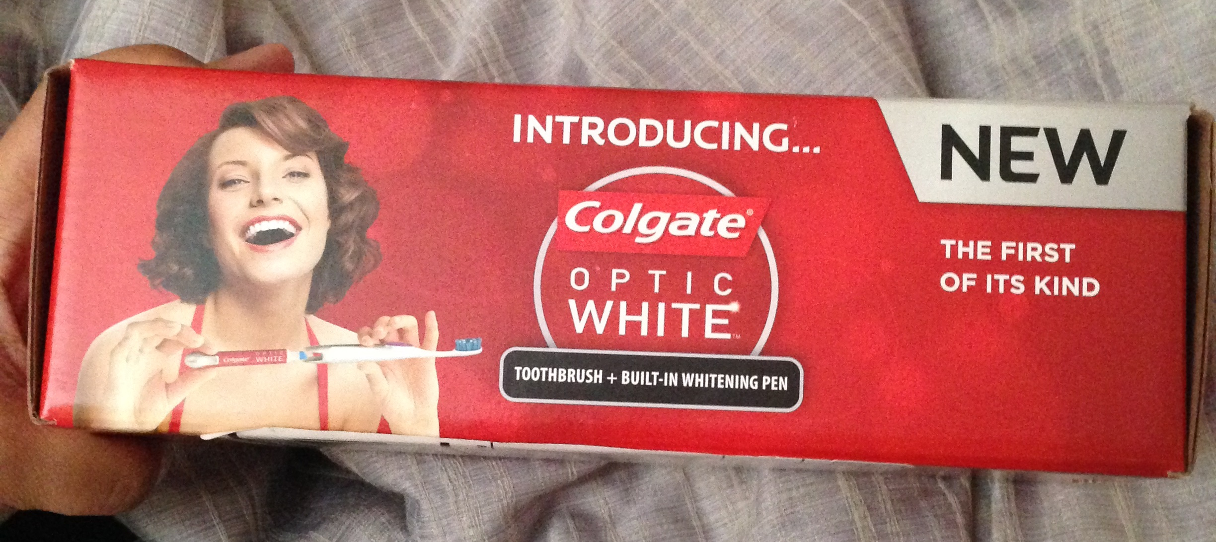 crest optic white toothbrush and pen review