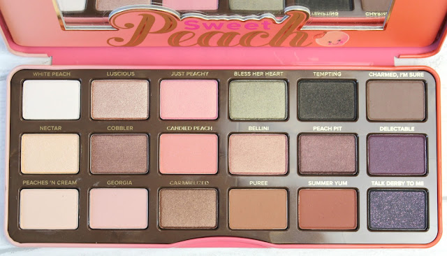 two faced peach palette review